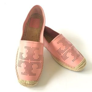 NEW Tory Burch Perforated Leather Espadrilles 8.5